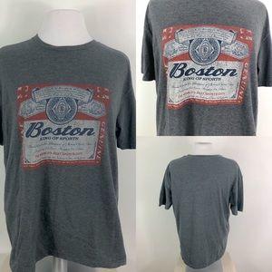 Boston Red Sox Sports Tee Shirt Budweiser Style